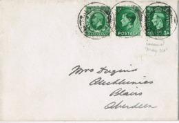 33979. Carta BLAIRS (Aberdeen) 1937. Three Kings England - 1902-1951 (Kings)