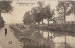 D51 - SAINT GERMAIN LA VILLE-L'ECLUSE DU CANAL-Enfant Sur La Route-Personnes Sur Le Pont-Chavaux Près D'un Arbre - Otros Municipios