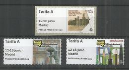 ESPAÑA ATM 51 FERIA NACIONAL DEL SELLO 3 VALORES TARIFA A MAQUINA P6... - 1931-Hoy: 2ª República - ... Juan Carlos I