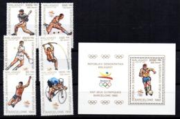 Serie Nº Michel 1234/9 + Hb125 Madagascar - Verano 1992: Barcelona
