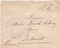 FRANCE : Lettre En FM (Franchise Militaire) Pour Pesmes - Hopital Temporaire 39 Annexe Excelmans - Postmark Collection (Covers)