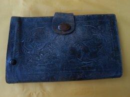 Portefeuille - Portefeuille Ancien Cuir 19 X 12 Cms - - Purses & Bags
