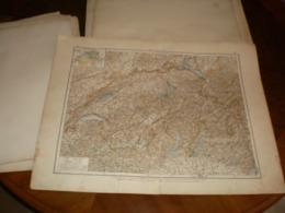 Die Sweiz Volks Und Familien Atlas A Shobel Leipzig 1901 Big Map - Cartes Géographiques