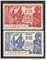 Cameroun N° 160 / 61 X Exposition Internationale De New-York, La Paire Trace De Charnière Sinon TB - Camerún (1915-1959)