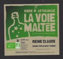 Etiquette De Bière Reine Claude  -  Brasserie La Voie Maltée à  Saint Jean De Thurigneux (01) - Bière