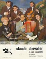 Claude Chevalier Et Son Ensemble Accordeon Crucianelli Piermaria Barclay  Imp. Rapide Vierzon Femme Bas Resille - Vierzon