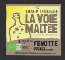 Etiquette De Bière Fenotte Blonde  -  Brasserie La Voie Maltée à  Saint Jean De Thurigneux (01) - Bière
