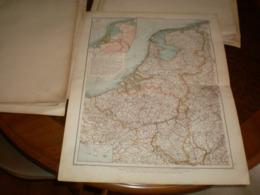 Niederlande Und Belgien Volks Und Familien Atlas A Shobel Leipzig 1901 Big Map - Cartes Géographiques