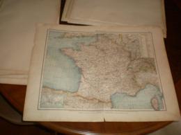 Frankreich Volks Und Familien Atlas A Shobel Leipzig 1901 Big Map - Cartes Géographiques