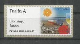ESPAÑA ATM 28 INTERNATIONALE BRIEFMARKEN ESSEN TARIFA  A  MAQUINA P5ES - 1931-Hoy: 2ª República - ... Juan Carlos I