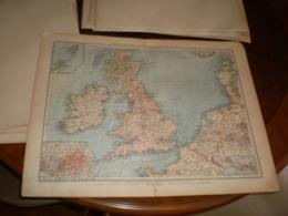 Uberisichtskarte Von Grossbritannien Und Ireland Volks Und Familien Atlas A Shobel Leipzig 1901 Big Map - Cartes Géographiques