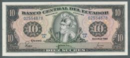 P-114b 10 Sucres  20.4.1983) - UNC Série LK N° 02554878 - Ecuador