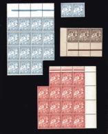 ALGERIE  Petit Lot De Timbres Neufs TAXE N° 1A ( Bloc De 15 +2 )   N°2 ( Bande De 3 )   N° 25 ( Bloc De 15 ) - Algérie (1924-1962)