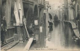 Paris 5 Rue De Bièvre Crue 30/1/1910 ELD Hotel Lampadaire Sauvetage - Arrondissement: 05
