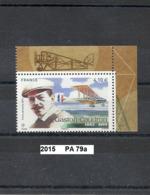 Poste-Aérienne De 2015 Neuf** Y&T  N° PA 79a Gaston Caudron Avec Bords Illustrés Du Mini-bloc - Poste Aérienne