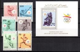 Serie Nº  Michel 894-899+ Hb- 302  Comores - Verano 1992: Barcelona