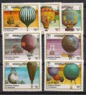 Kampuchea - 1983 - N°Yv. 393 à 399 - Aérostats - Neuf Luxe ** / MNH / Postfrisch - Kampuchea