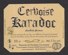 Etiquette De Cervoise Ambrée Sureau - Karadoc -  Brasserie Du Houblon Gourmand à Nanteuil La Fosse  (02) - Bière