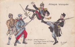 Thèmes > Militaria > 1914/1918 Patriotiques Humoristique Illustrateur Fercham - Patriotiques