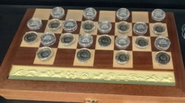 Tanzania  Checkers Set  Coins 2018 , 187 Gr. Silver, Wooden Box - Tanzanía