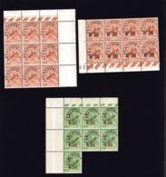 ALGERIE  Petit Lot De Timbres Neufs PRE O N° 10 ( Bloc De 9 )  N° 14 ( Bloc De 8 ) TAXE N° 28 ( Bloc De 7 ) - Algérie (1924-1962)