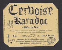 Etiquette De Cervoise De Noël - Karadoc -  Brasserie Du Houblon Gourmand à Nanteuil La Fosse  (02) - Bière