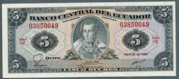 P-113d 5 Sucres (20.4.1983) UNC Série HZ N° 03850049 - Ecuador