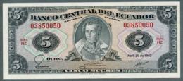 P-113d 5 Sucres (20.4.1983) UNC Série HZ N° 03850050 - Ecuador
