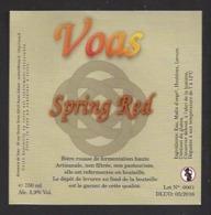 Etiquette De Bière  Spring Red -  Brasserie De Voas à Saint Gobain  (02) - Bière