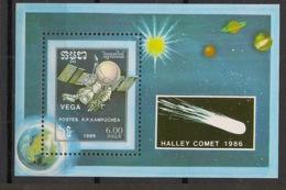Kampuchea - 1986 - Bloc Feuillet BF N°Yv. 55 - Comète De Halley - Neuf Luxe ** / MNH / Postfrisch - Kampuchea