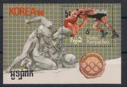 Kampuchea - 1987 - Bloc Feuillet BF N°Yv. 58 - Olympics / Seoul 88 - Neuf Luxe ** / MNH / Postfrisch - Kampuchea