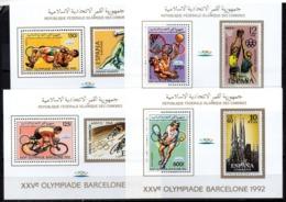 Serie Nº Mi Bl. 255-260B Comores - Verano 1992: Barcelona