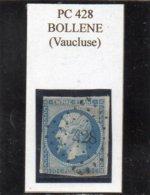 Vaucluse - N° 14B (déf) Obl PC 428 Bollene - 1853-1860 Napoléon III