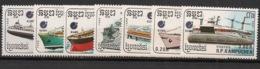 Kampuchea - 1988 - N°Yv. 809 à 815 - Bateaux - Neuf Luxe ** / MNH / Postfrisch - Kampuchea