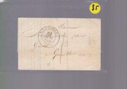 Une Lettre Enveloppe   Grenoble Pour     Grenoble  Courrier Greffier Du Commerce  Année 1841 - 1801-1848: Précurseurs XIX