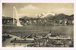 33987. Postal GENEVE (Suisse) . Quartier EAUX VIVES, La Rade Et Le Mont Blanc - GE Genève