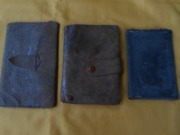 Portefeuille - 3 Portefeuilles Ancien Cuir - Purses & Bags