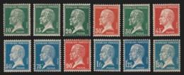 N°170/181, Pasteur 1923, Série Complète, Neufs ** Sans Charnière COTE 190 € - Unused Stamps
