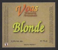 Etiquette De Bière Blonde  -   Brasserie De Voas à Saint Gobain  (02) - Bière