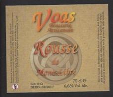 Etiquette De Bière Rousse  -   Brasserie De Voas à Saint Gobain  (02) - Bière