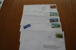 Polynésie Française: 5 Courriers Différents - Covers & Documents