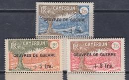 """Cameroun N° 233 / 35 XX : Les 3 Vals Sur. """"Oeuvres De Guerre"""" Sans Charnière Gomme  Coloniale Tous Bord De Feuille, TB - Cameroun (1915-1959)"""