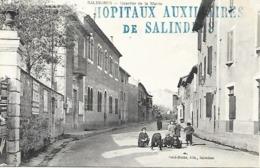 30-cachet Hopitaux Aux. De Salindres (HB N°133 Bis-Usine Péchiney) Sur CP -cachet Très Rare - WW I