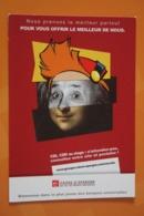Albert Einstein , GIOCONDA - MONA LISA. Modern Advert Postcard - Premi Nobel