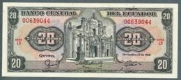P 121a - 20 SUCRES - 22/11/1988 - NEUF Série LS N° 00639044 - Ecuador
