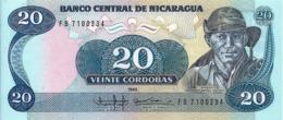 Banconota Da  20 Cordobas  - Banco Centrale De Nicaragua  -  Anno  1985. - Nicaragua