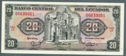 P 121a - 20 SUCRES - 22/11/1988 - NEUF Série LS N° 00639051 - Ecuador