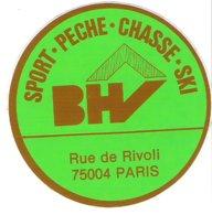 Autocollant BHV Rue De Rivoli PARIS Sport Pêche Chasse Ski - Autocollants