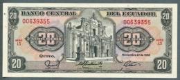 P 121a - 20 SUCRES - 22/11/1988 - NEUF Série LS N° 00639055 - Ecuador
