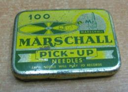 AC - MARSCHALL PHONOGRAPH GRAMOPHONE NEEDLE VINTAGE TIN BOX - Accessories & Sleeves